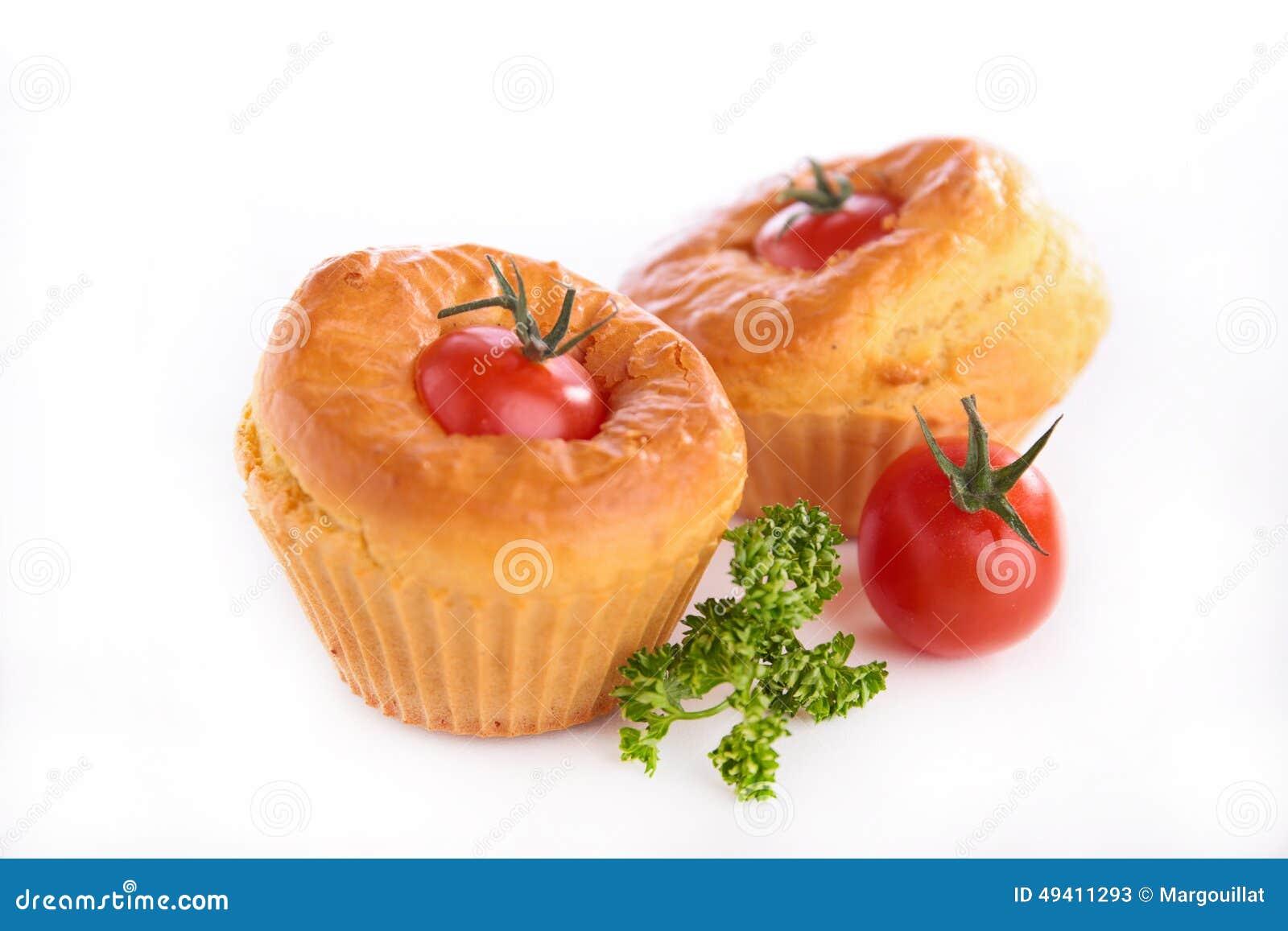 Download Tomatenmuffin stockbild. Bild von muffin, kuchen, tomate - 49411293