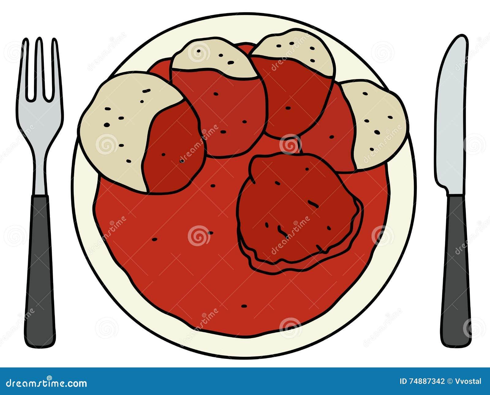 Tomatensaus met bollen