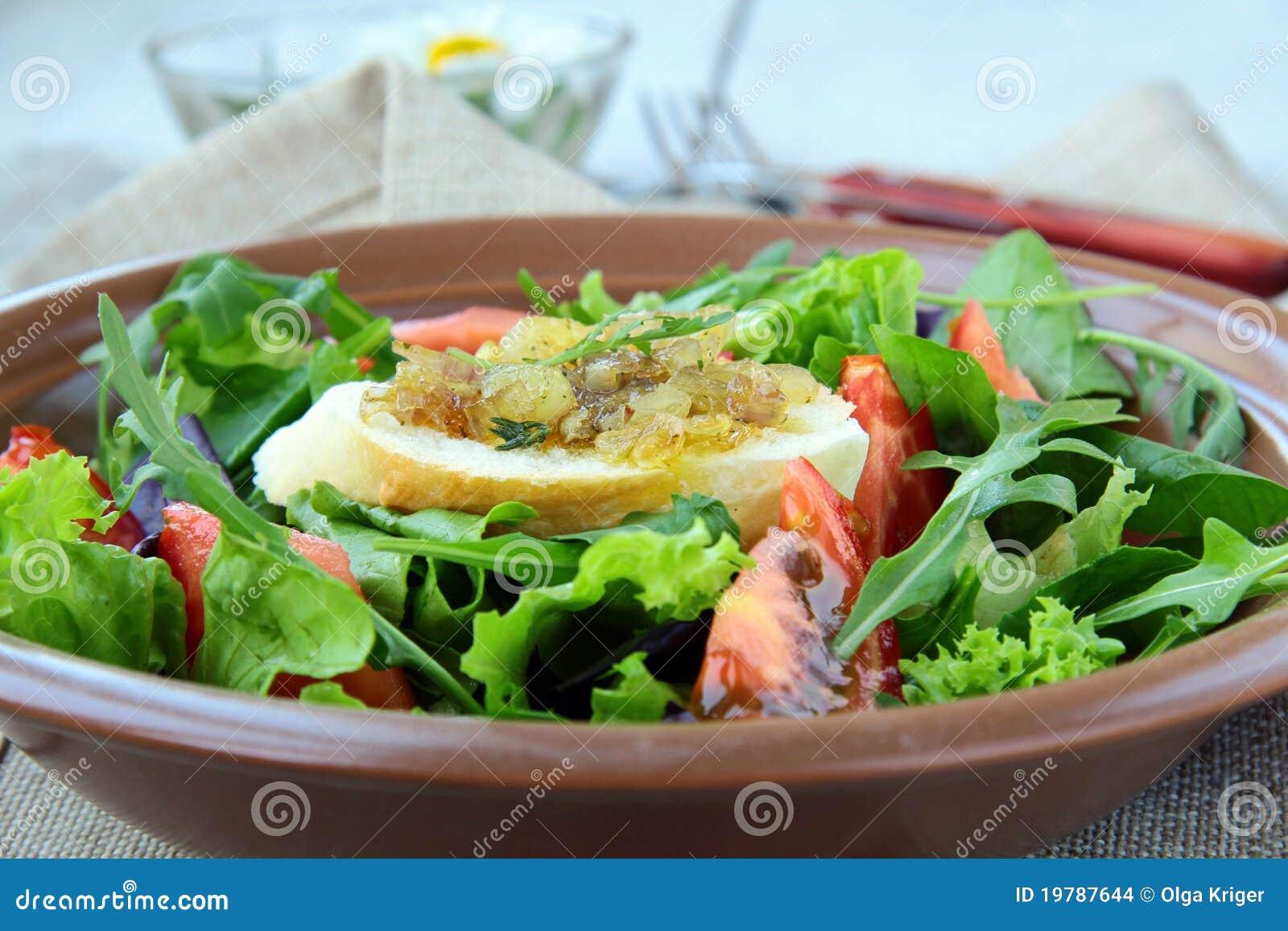 Tomater för sallad för krutonggreenmix