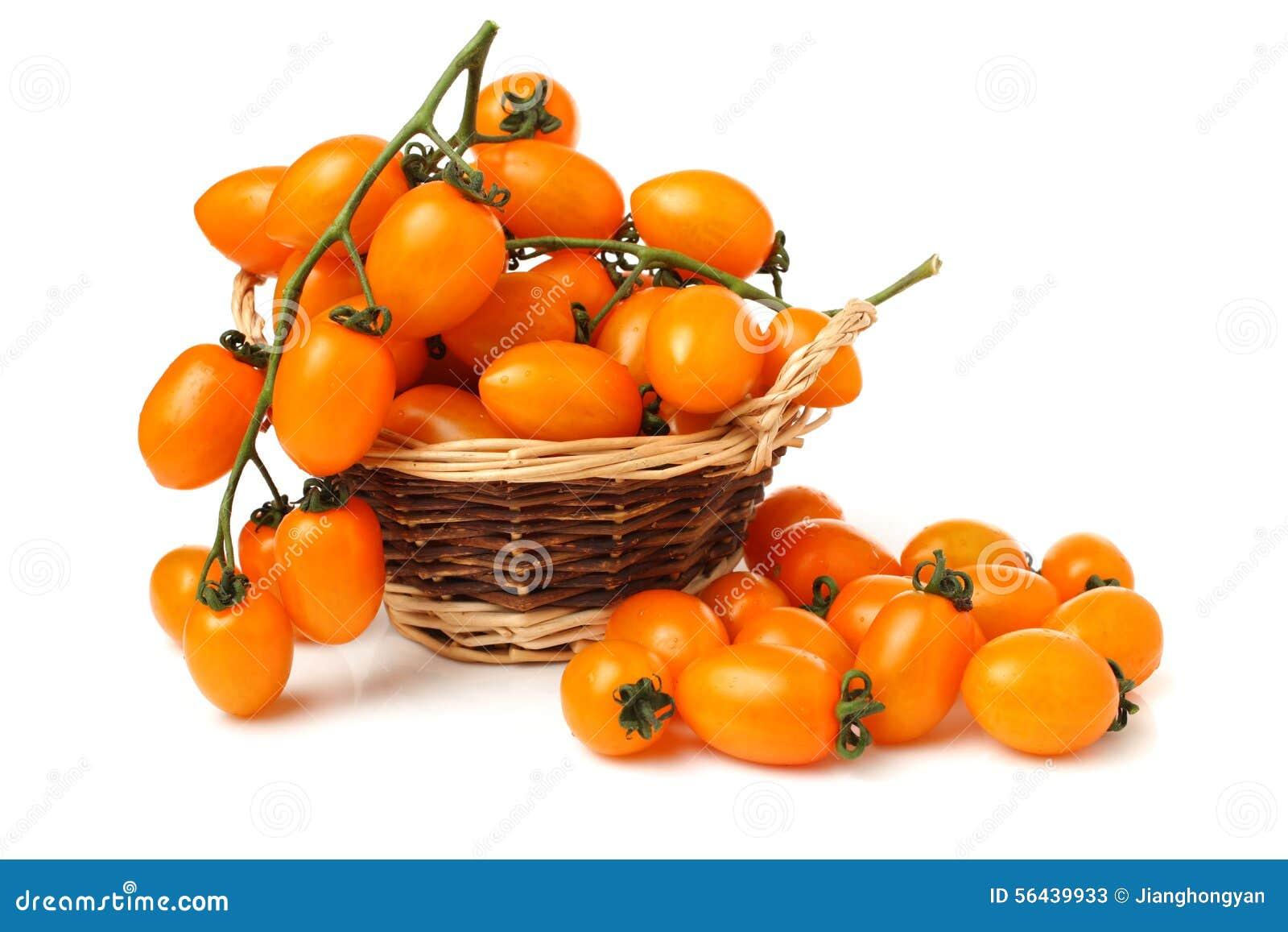 Tomates-cerises Jaunes Photo stock - Image: 56439933