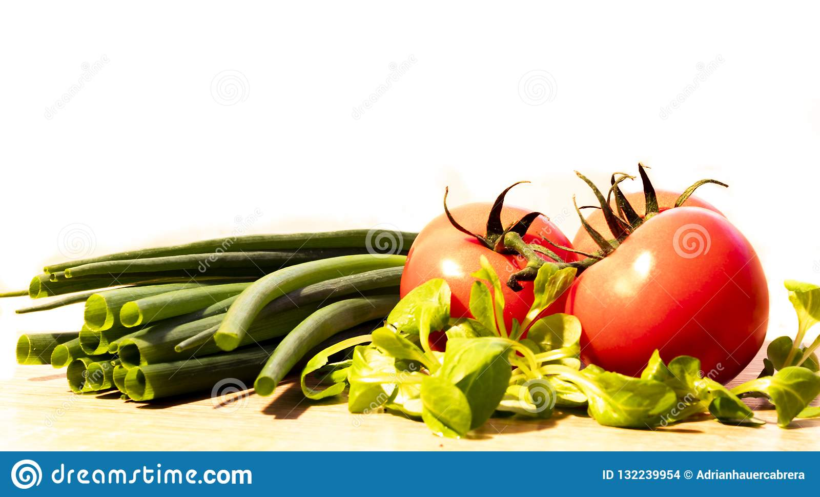 Tomates et poireaux Salade