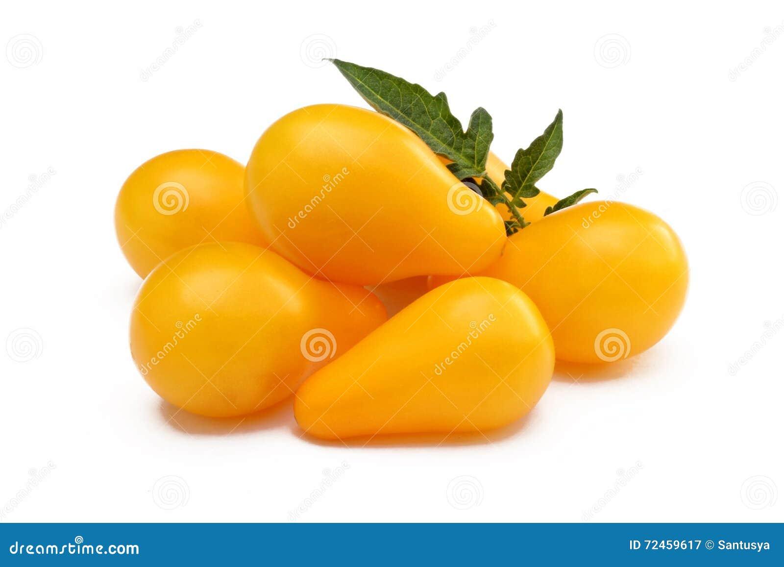 Tomates jaunes d isolement