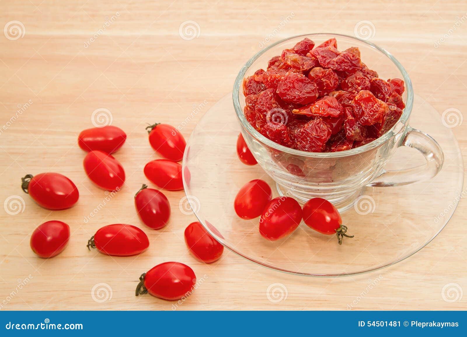 Tomates sèches en verre