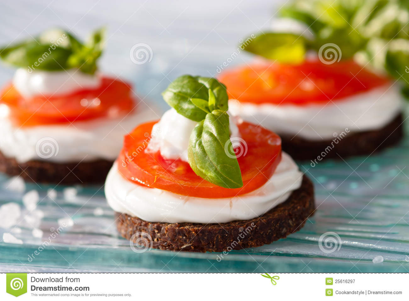 Tomato canape royalty free stock photography image 25616297 for Mozzarella canape