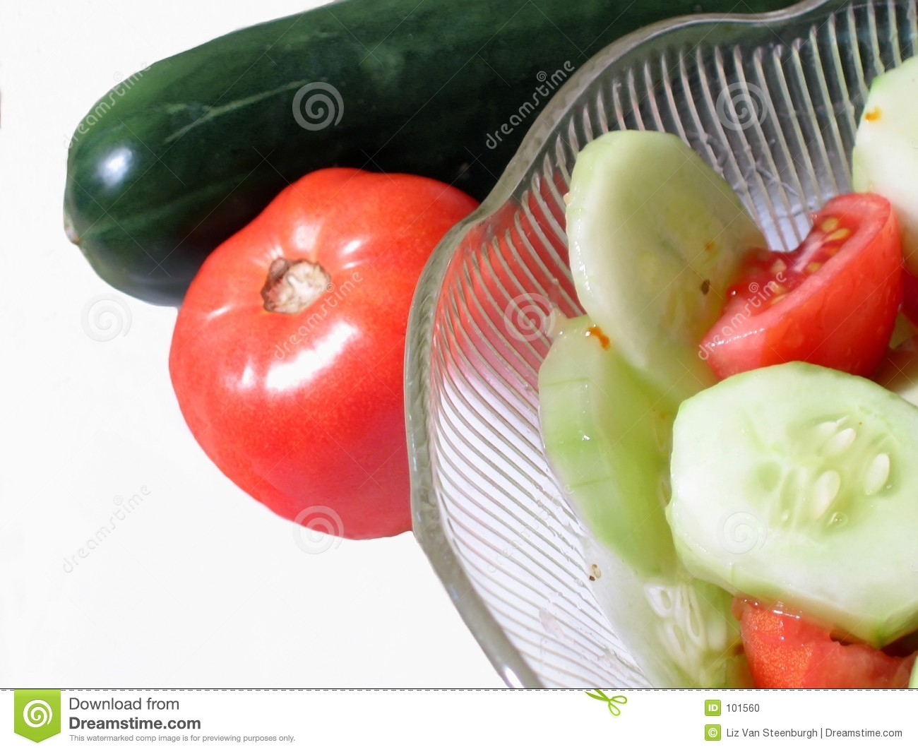 Download Tomato & Cucumer stock photo. Image of green, bowl, vegetable - 101560