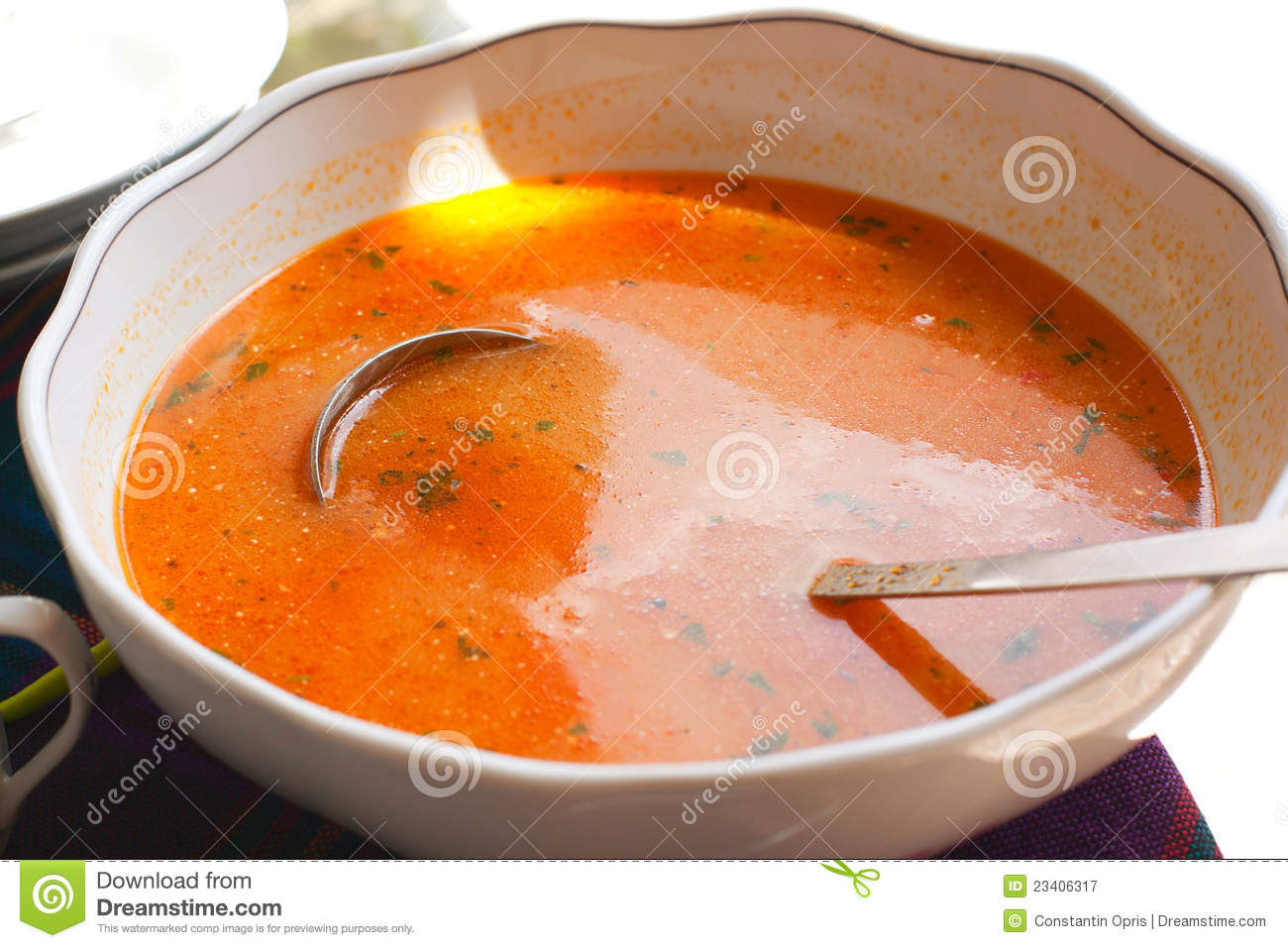 Tomato fish soup royalty free stock photography image for Fish broth soup