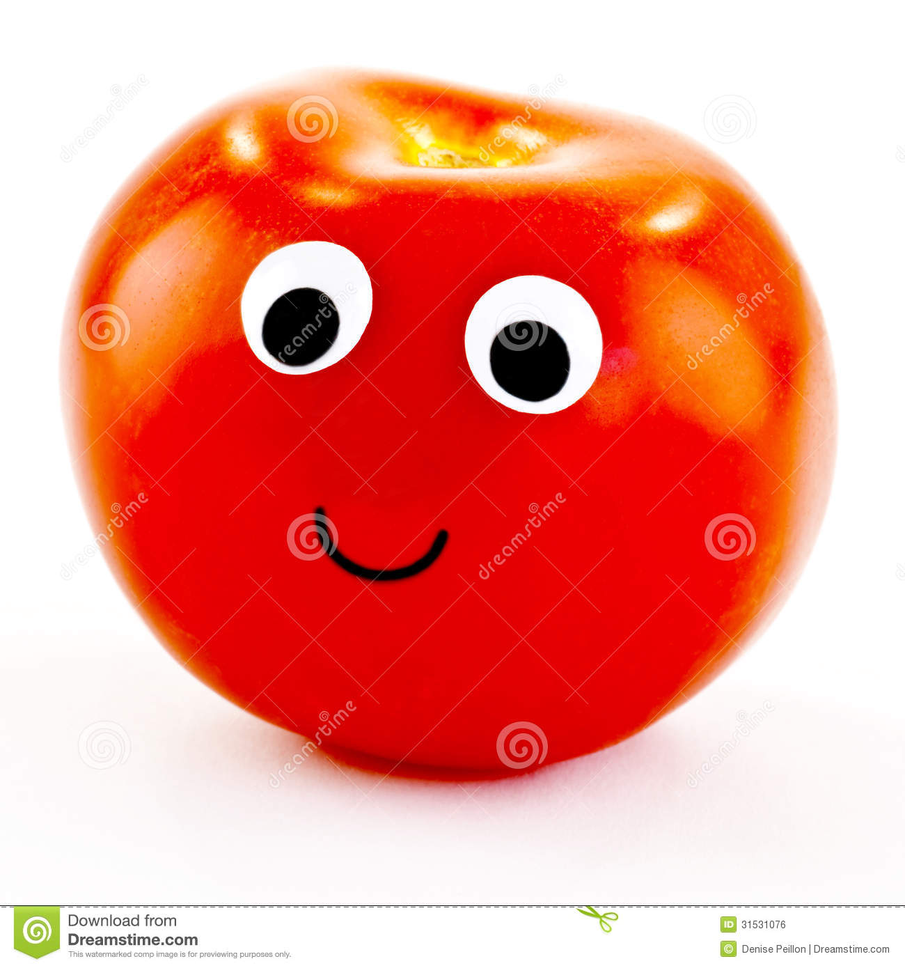 Tomato With Happy Face Royalty Free Stock Image - Image: 31531076