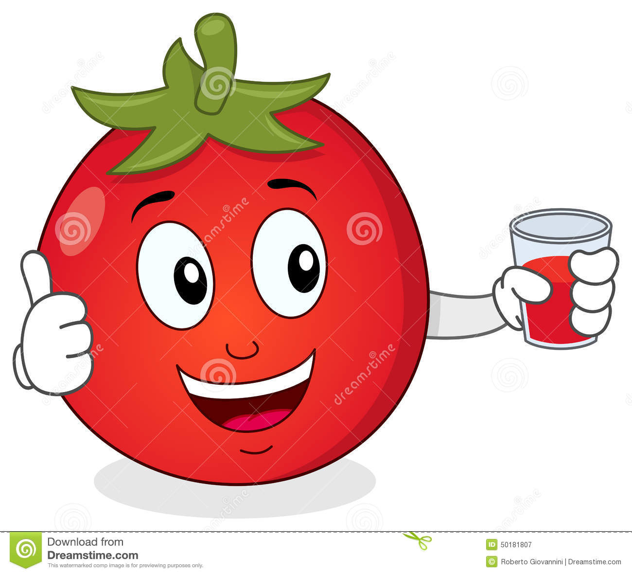 Tomato Holding A Fresh Squeezed Juice Stock Vector - Image ...