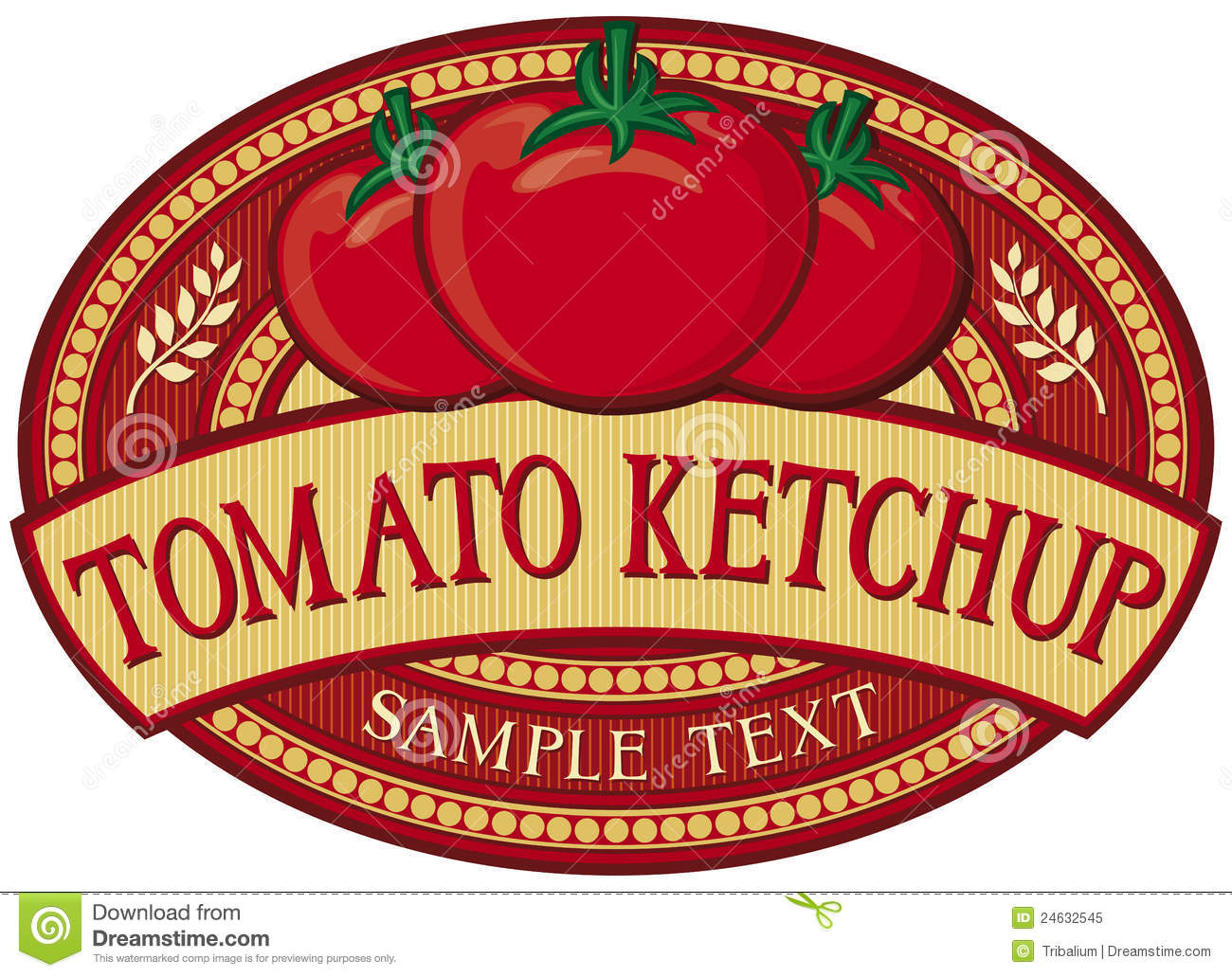Tomato Ketchup Label Royalty Free Stock Photo Image