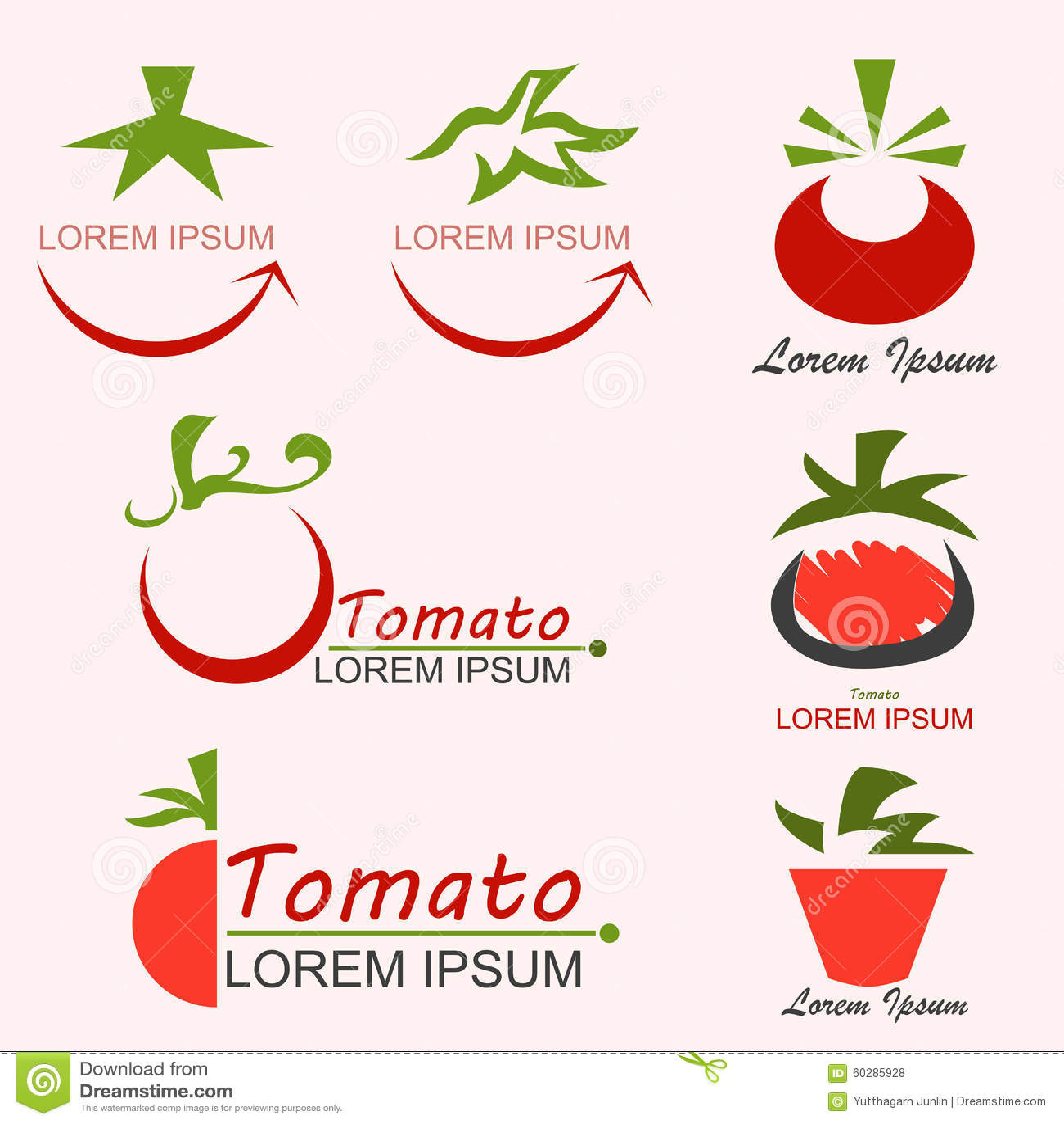 Tomato Logo Stock Vector Image 60285928