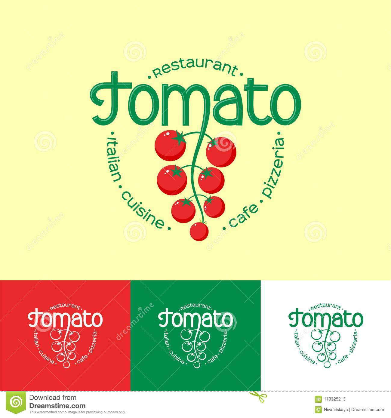 Tomato Logo Italian Cuisine Restaurant Logo Identity Pizzeria Or Cafe Emblem Letters And Cherry Tomatoes Stock Vector Illustration Of Nature Letter 113325213