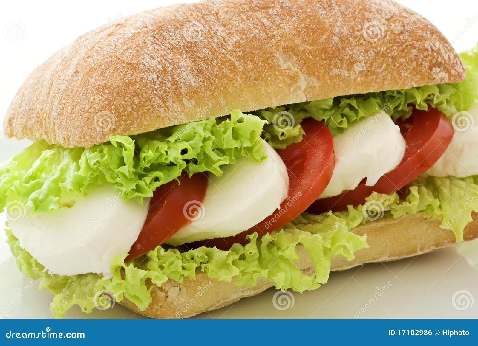 Tomato Mozzarella Sandwich Royalty Free Stock Image - Image: 17102986