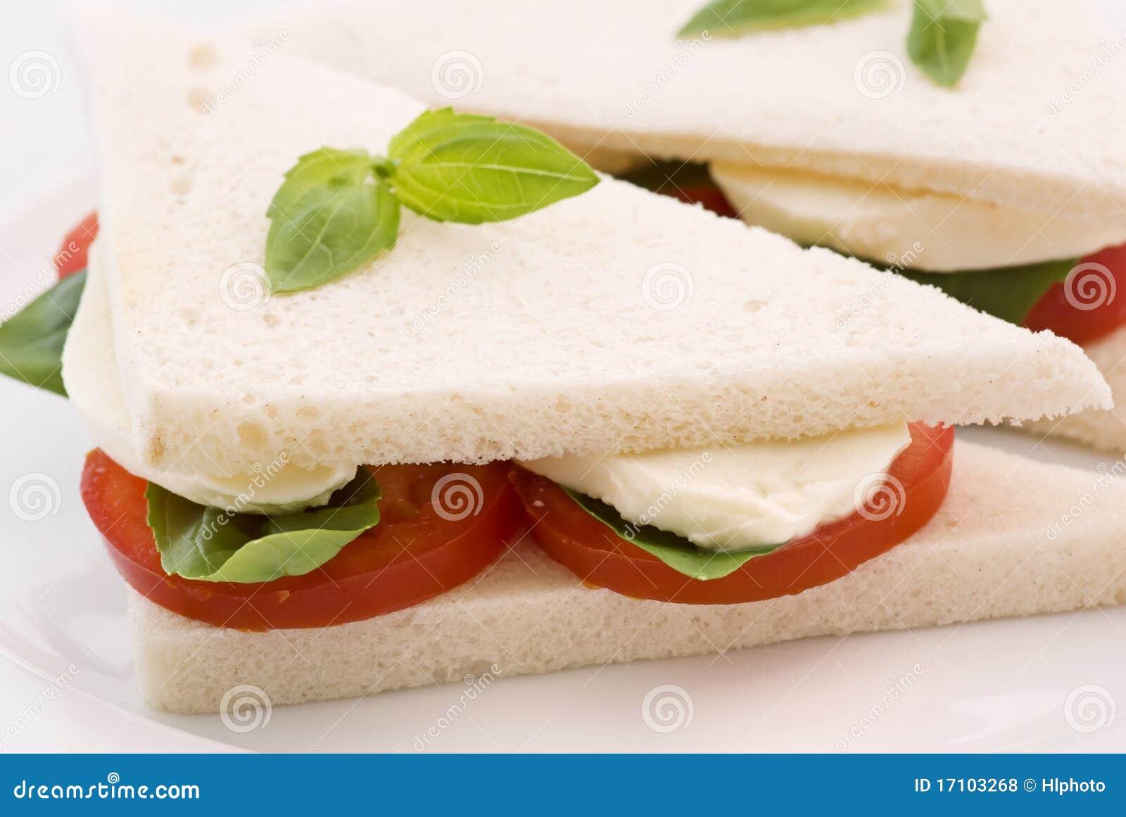 Tomato Mozzarella Sandwich Royalty Free Stock Photos - Image: 17103268