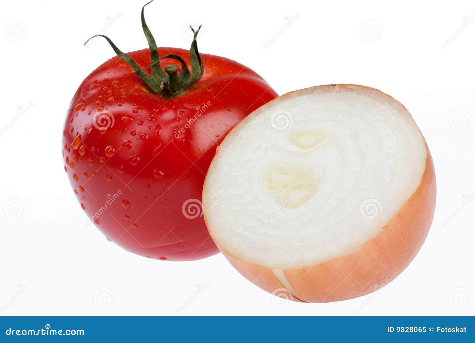 Tomato And Onion Royalty Free Stock Photo - Image: 9828065