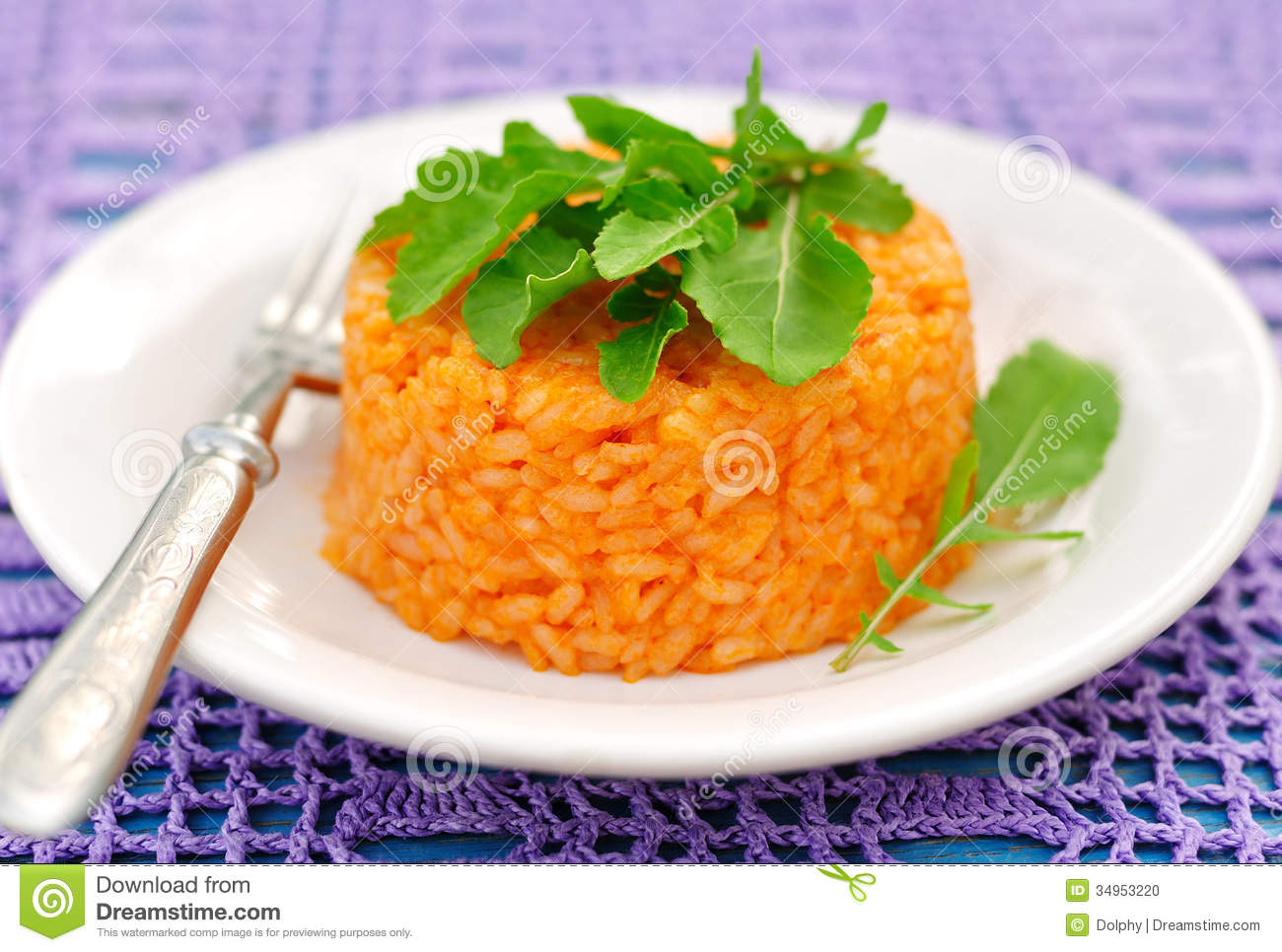 Tomato Rice with Rocket