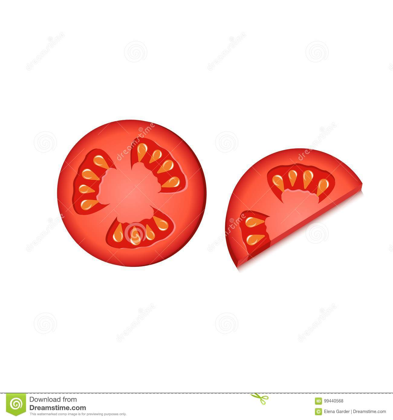 tomato slice isolated icon editable element for your design
