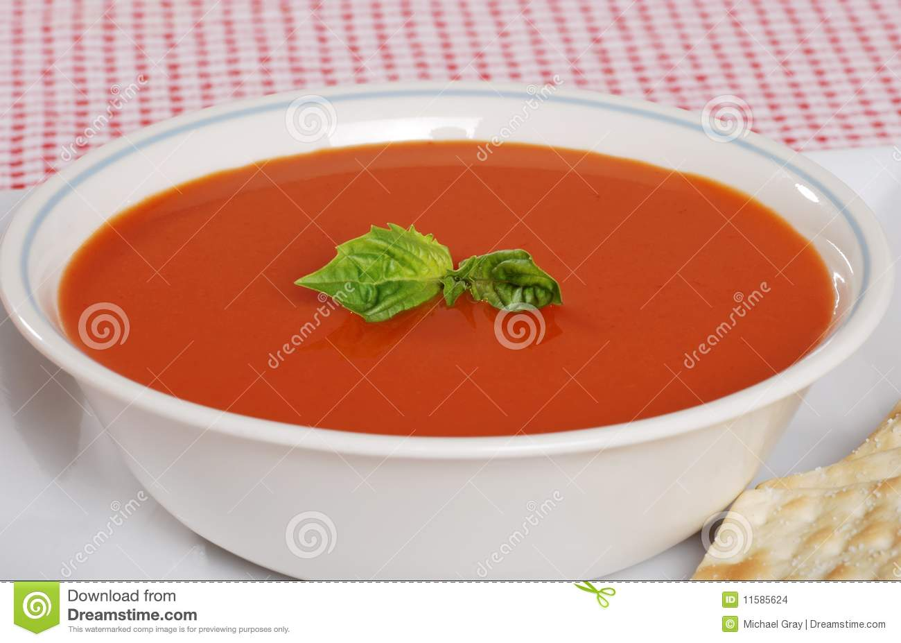 Tomato Soup With Fresh Basil Stock Images - Image: 11585624