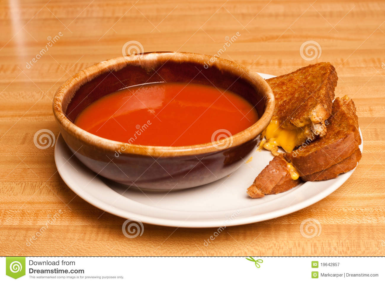 Tomato Soup Grilled Cheese Royalty Free Stock Photography - Image ...
