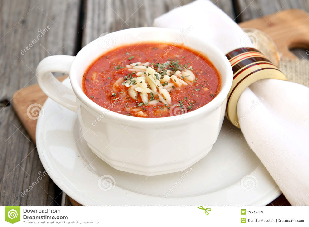 Tomato Soup With Orzo Royalty Free Stock Images - Image: 29917069