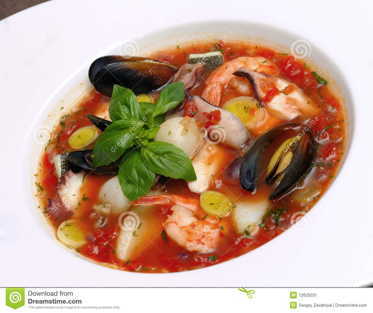 Tomato soup with seafood and fish stock image image for Fish and seafood