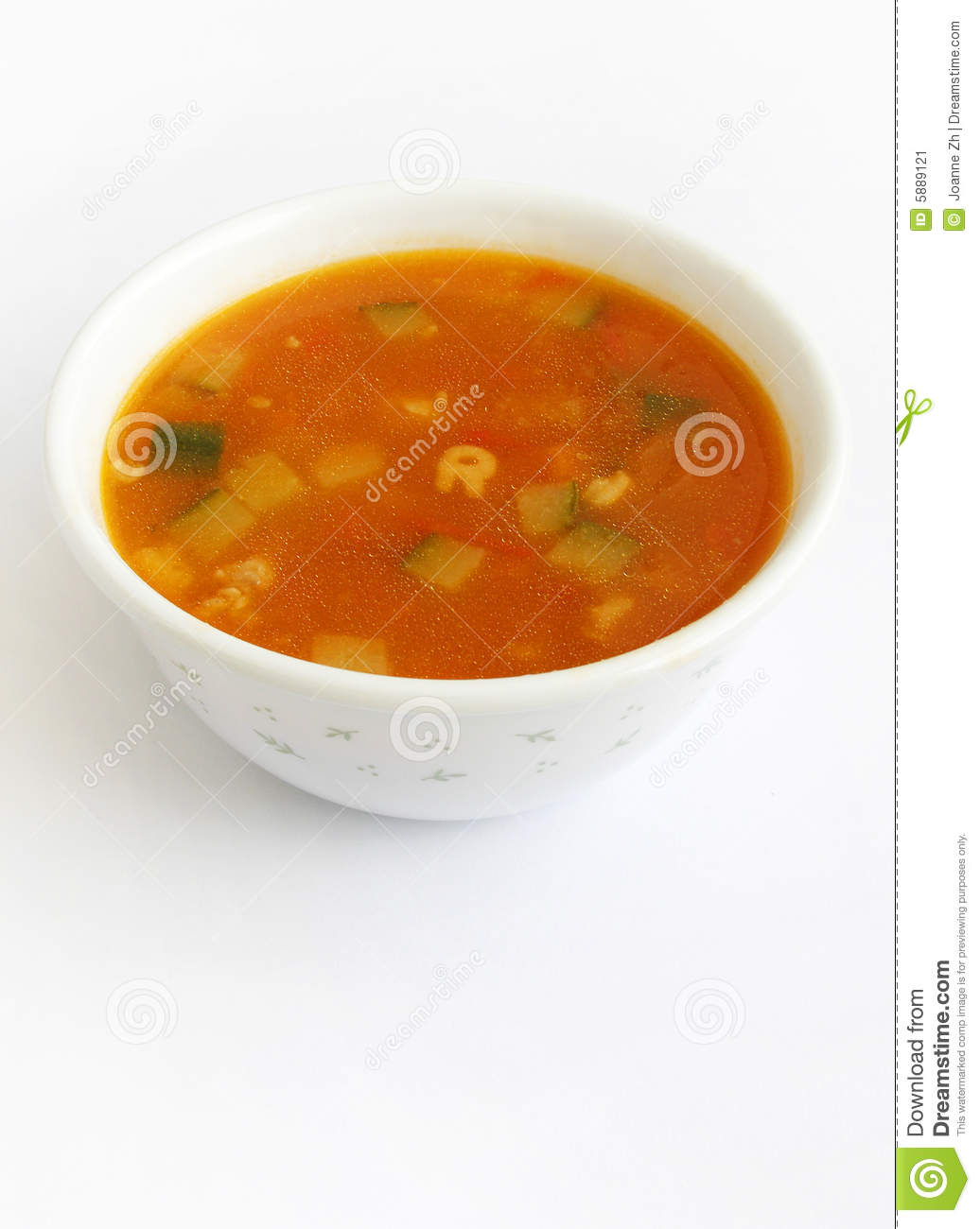 Tomato soup with vegetables