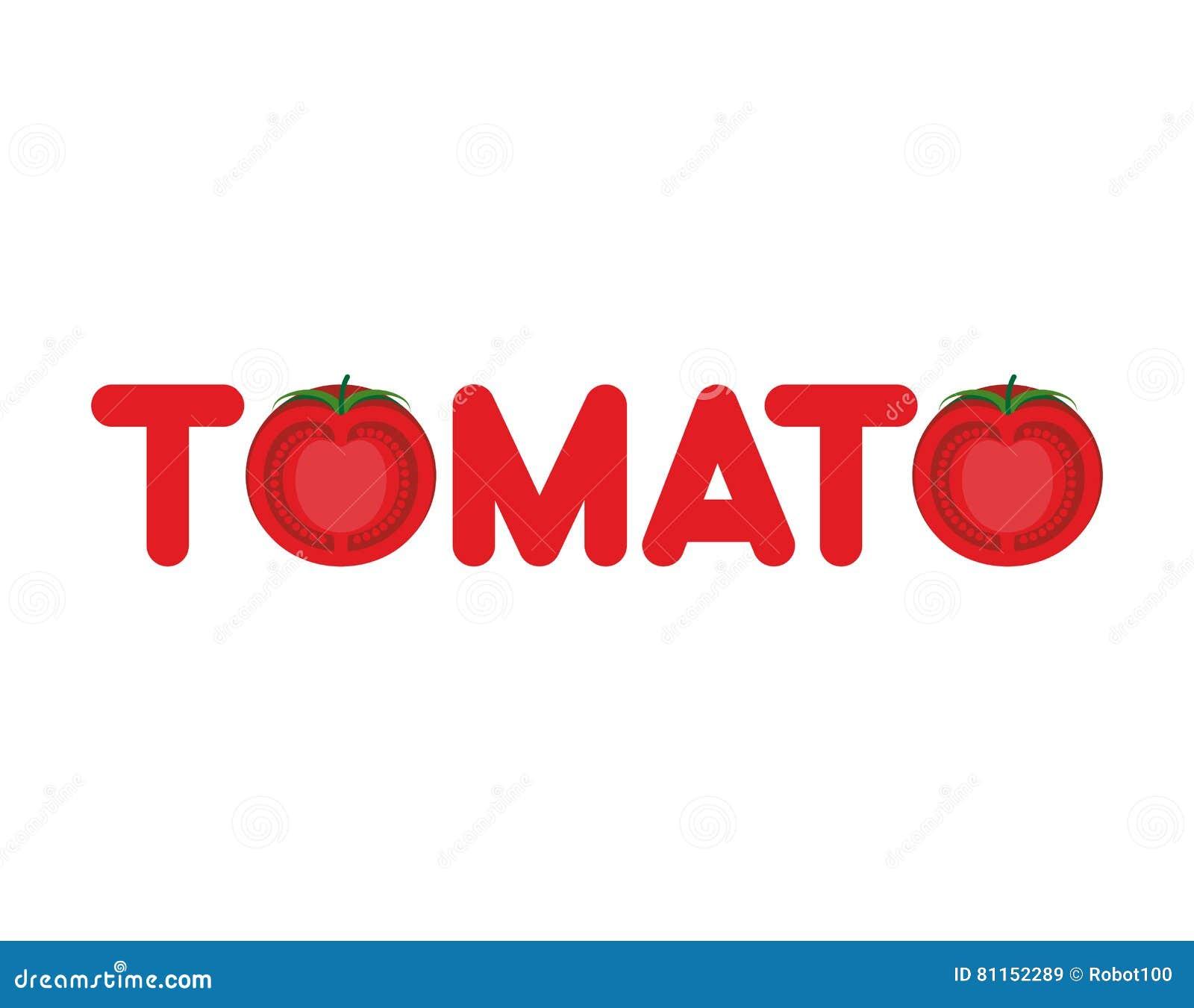 Tomato Text Logo. Lett... Tomato Logo