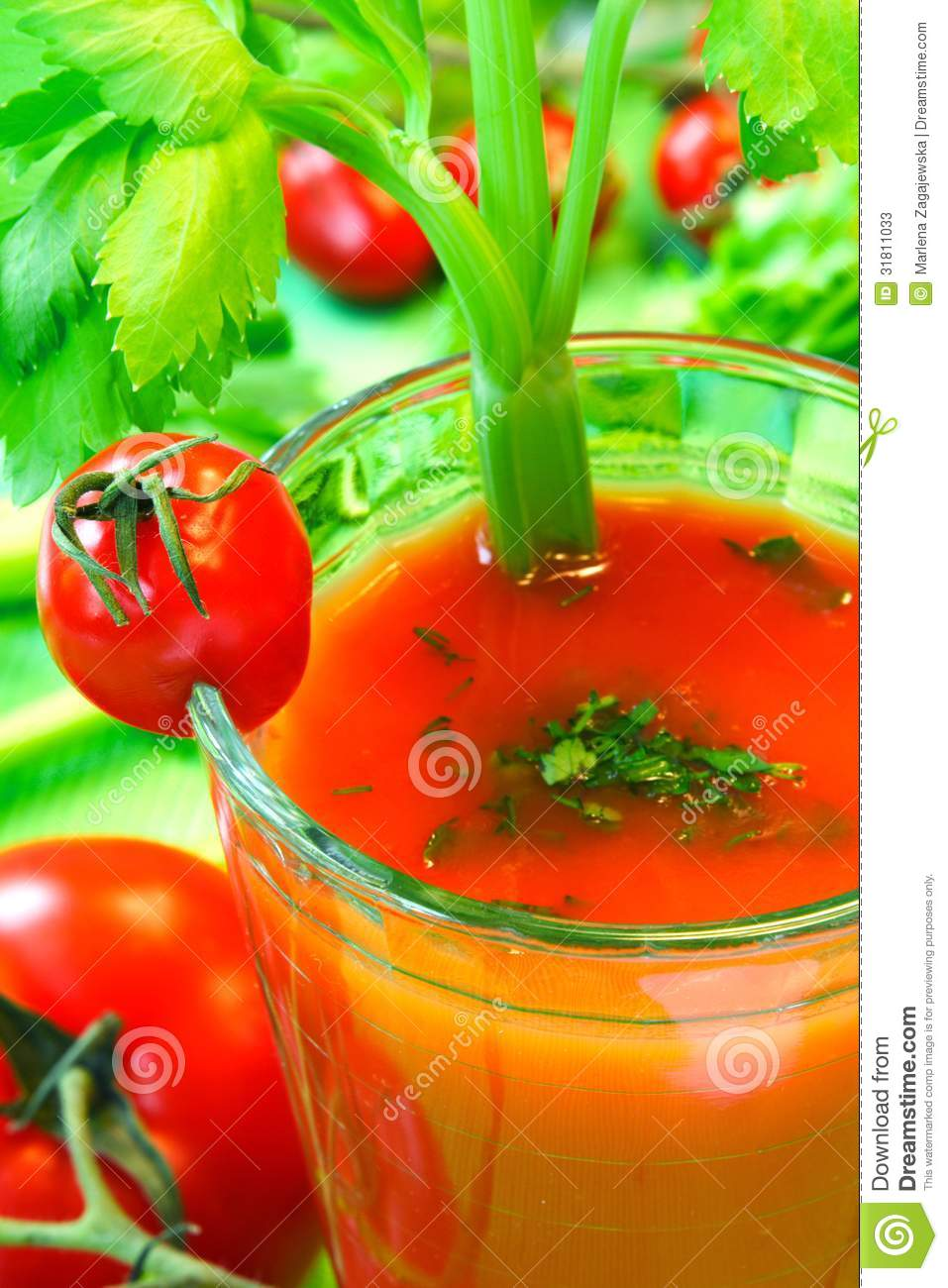 Tomato vegetable cocktail