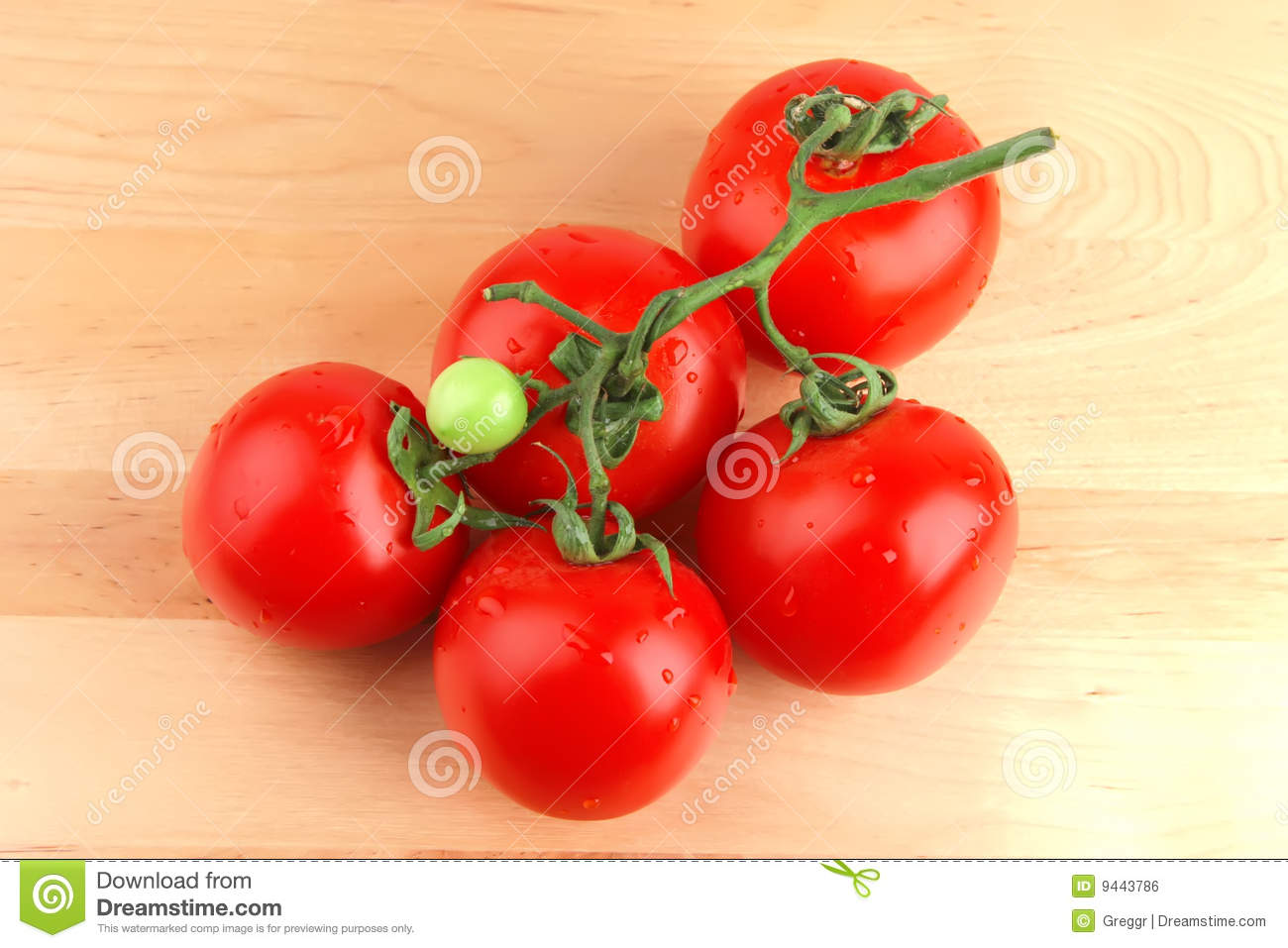 Tomato on wood stock photo image of crop growth bright