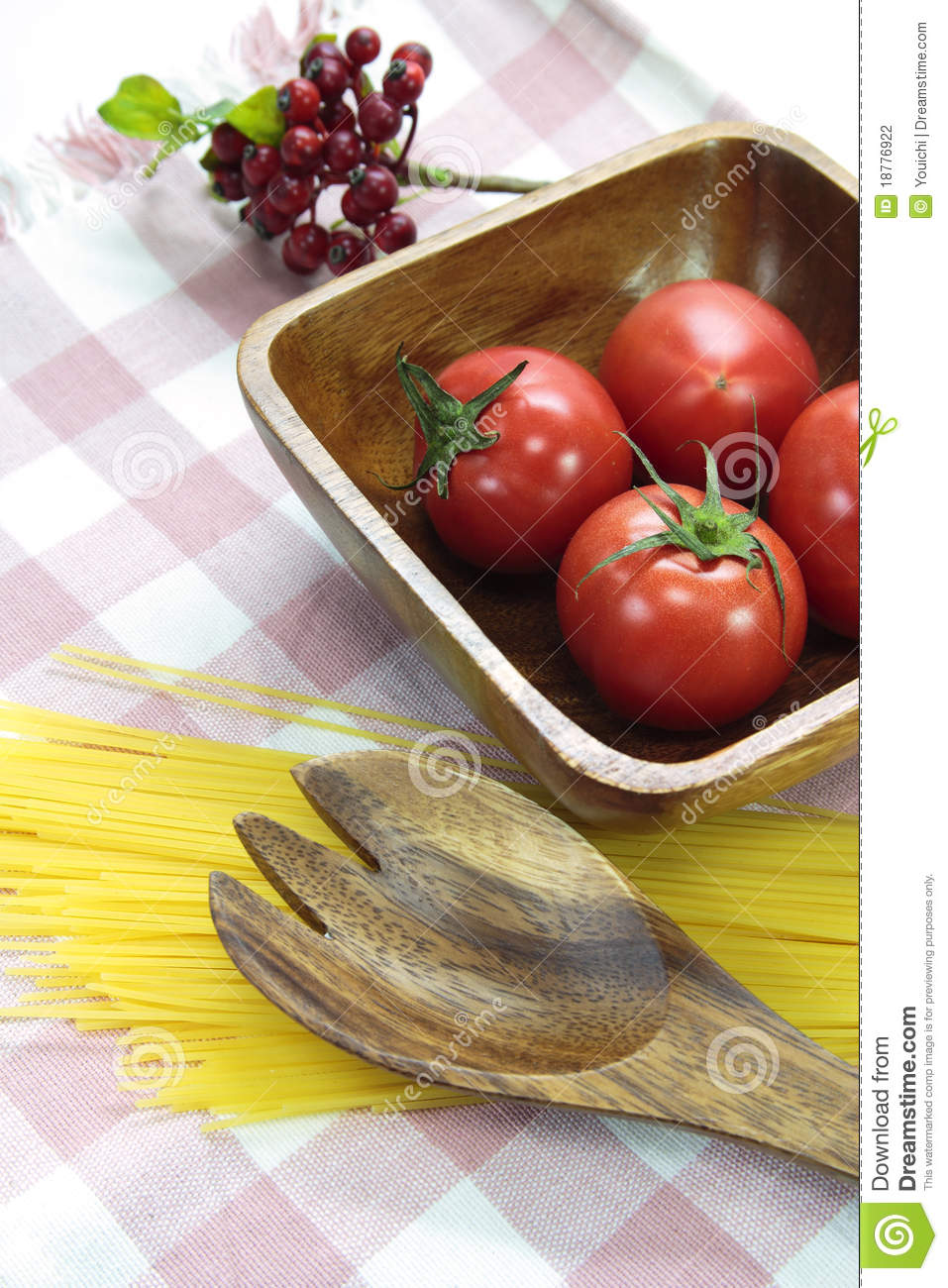 Tomato on wood plate stock photography image