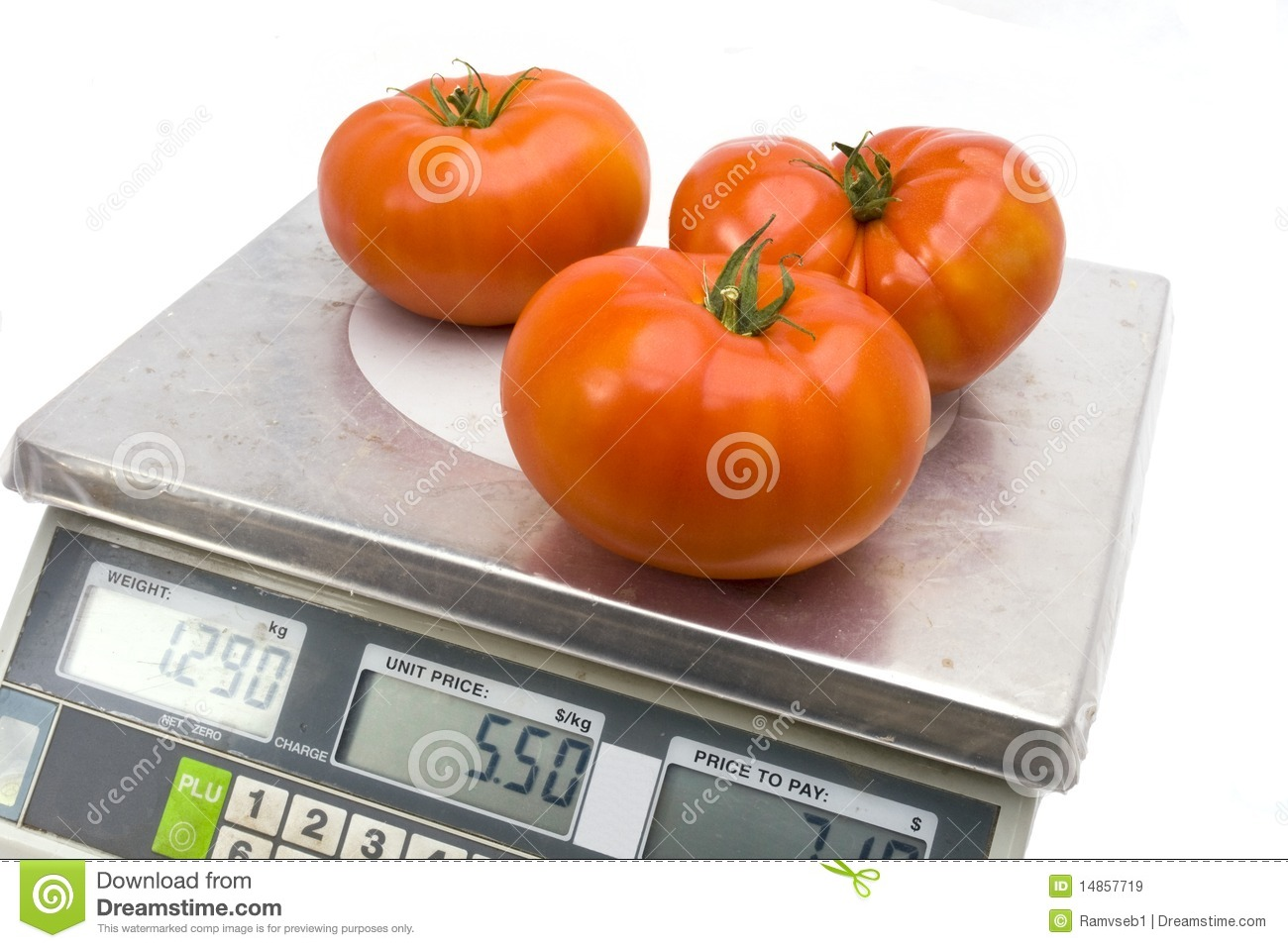 Tomatoes on the scales
