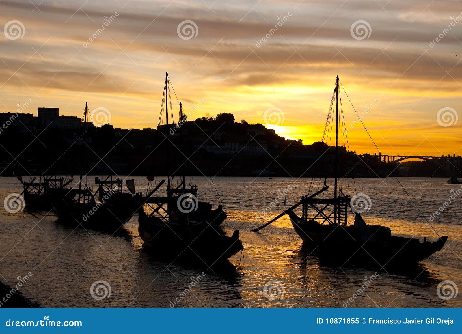 Tombée de la nuit à Porto