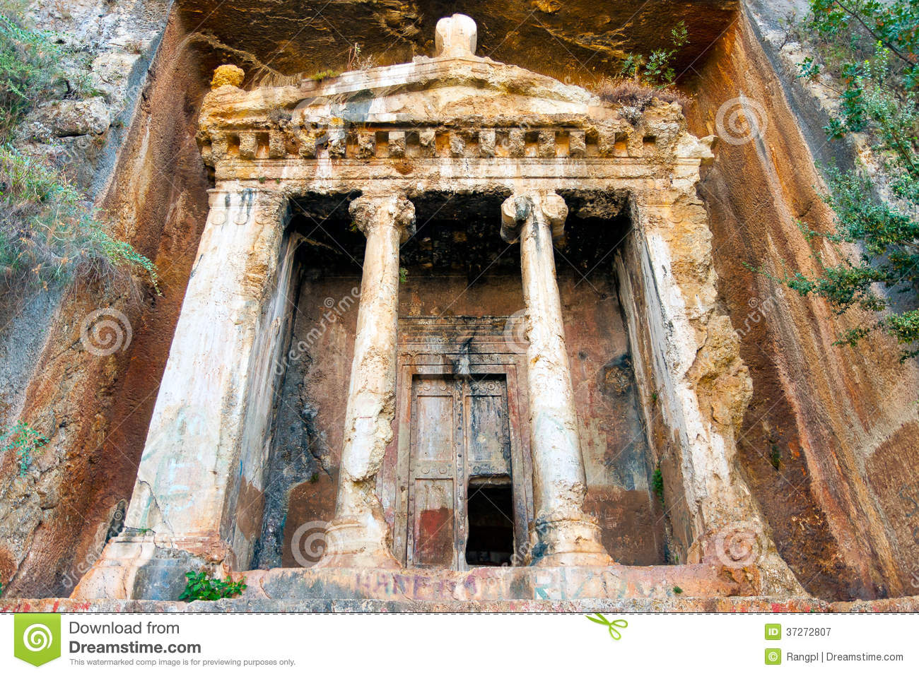 Tomb Of Amyntas Royalty Free Stock Photography - Image ...