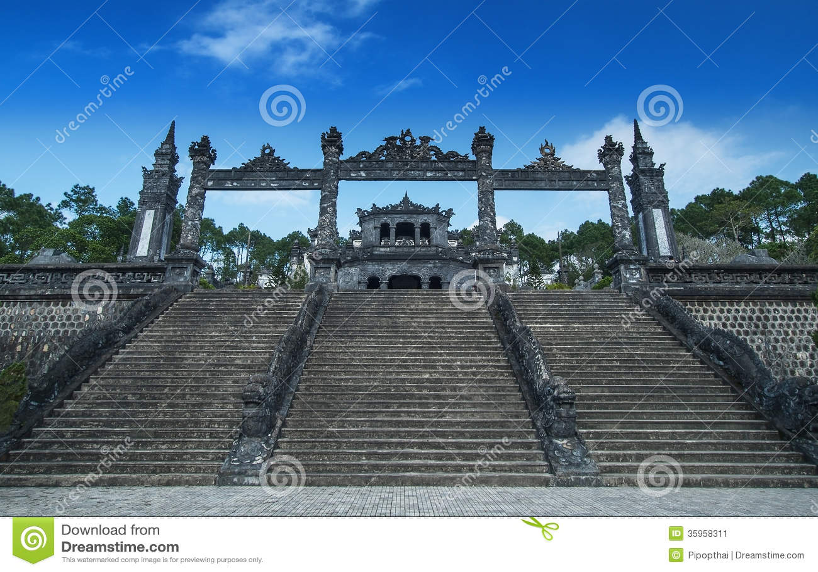 Tomb of Khai Dinh, Hue, Vietnam. UNESCO World Heritage Site.