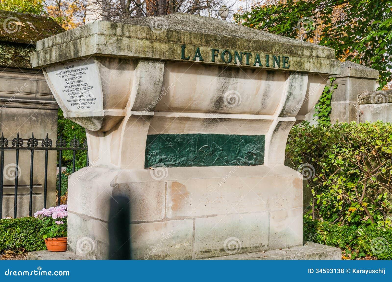 Tomb of la fontaine in pere lachaise cemetery royalty free stock photos ima - Technique de la chaise ...