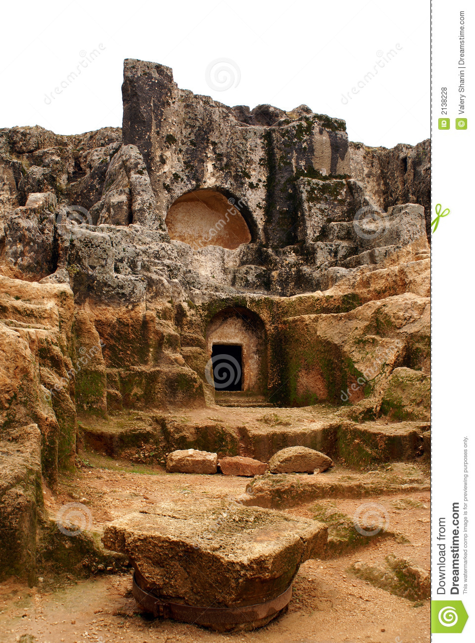 Tomb In Rock Royalty Free Stock Photos - Image: 2138228