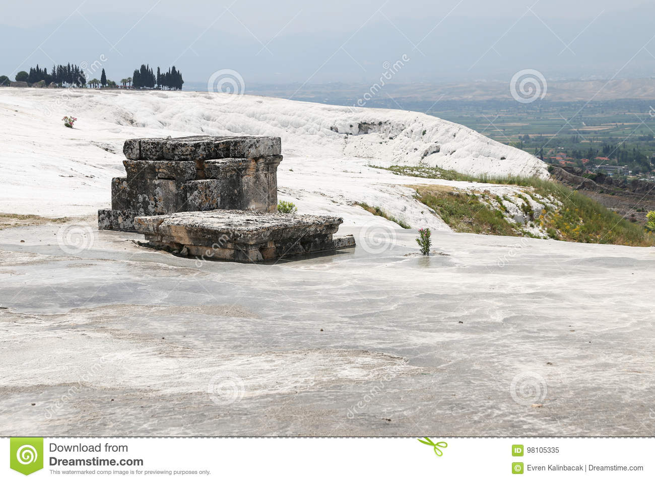 Tomba dell oggetto d antiquariato di Hierapolis in Pamukkale, Turchia