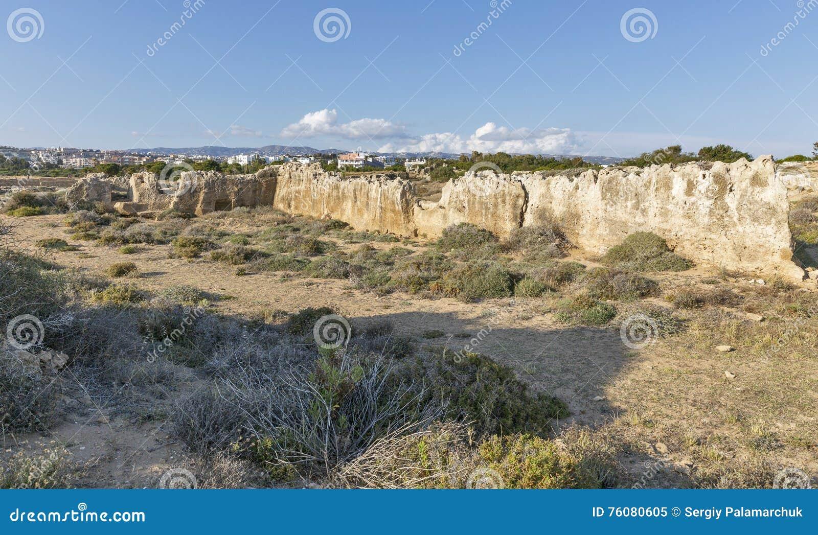 Tombes des rois dans Paphos sur la Chypre