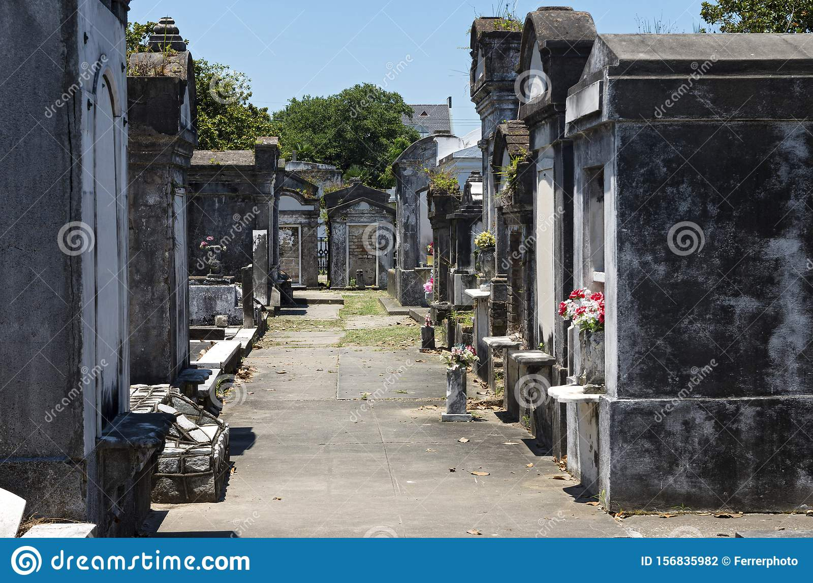 Tombs of Historic Cemetery in New Orleans