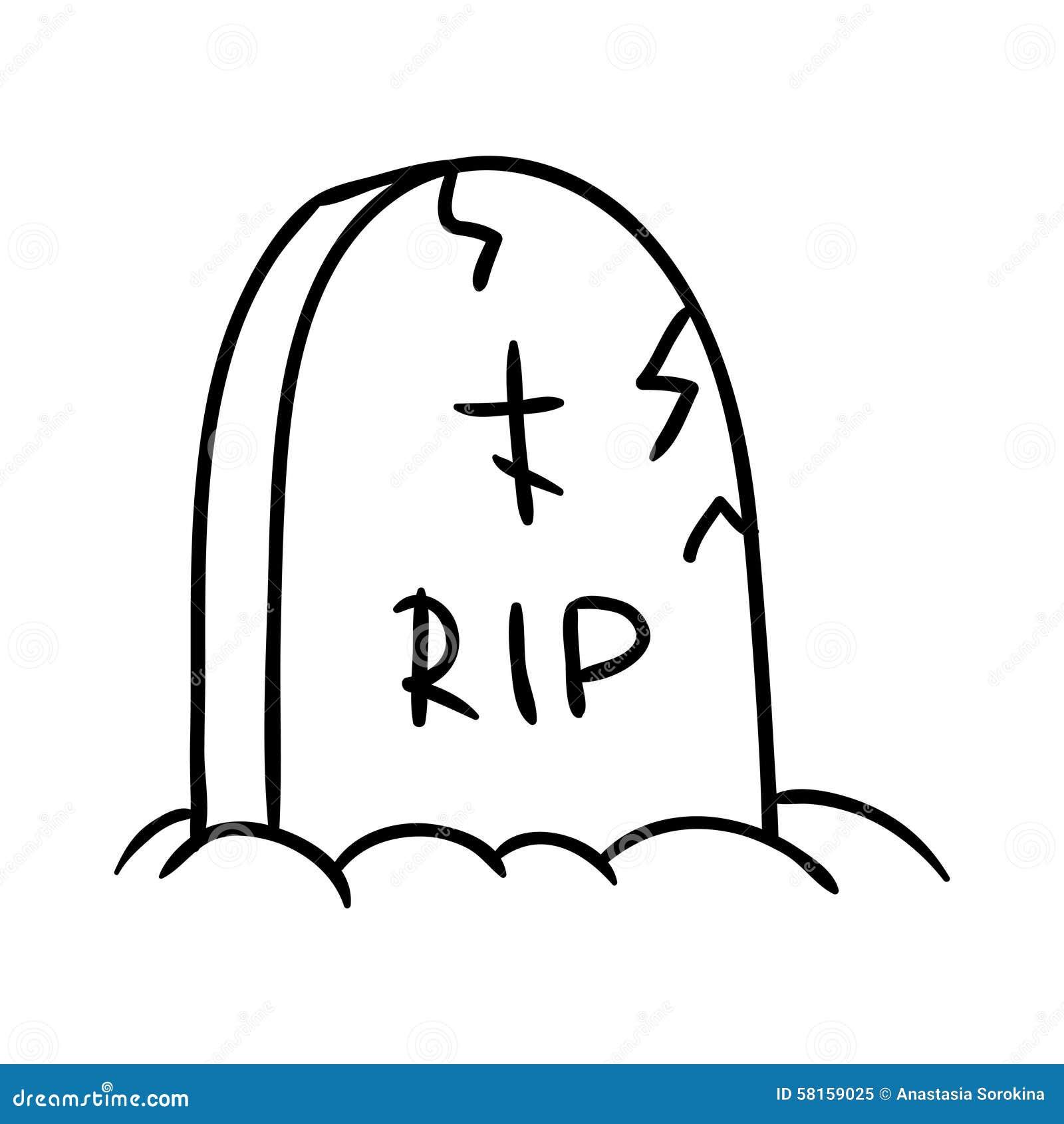 tombstone stock illustration image 58159025 headstone clip art designs headstone clipart for a headstone