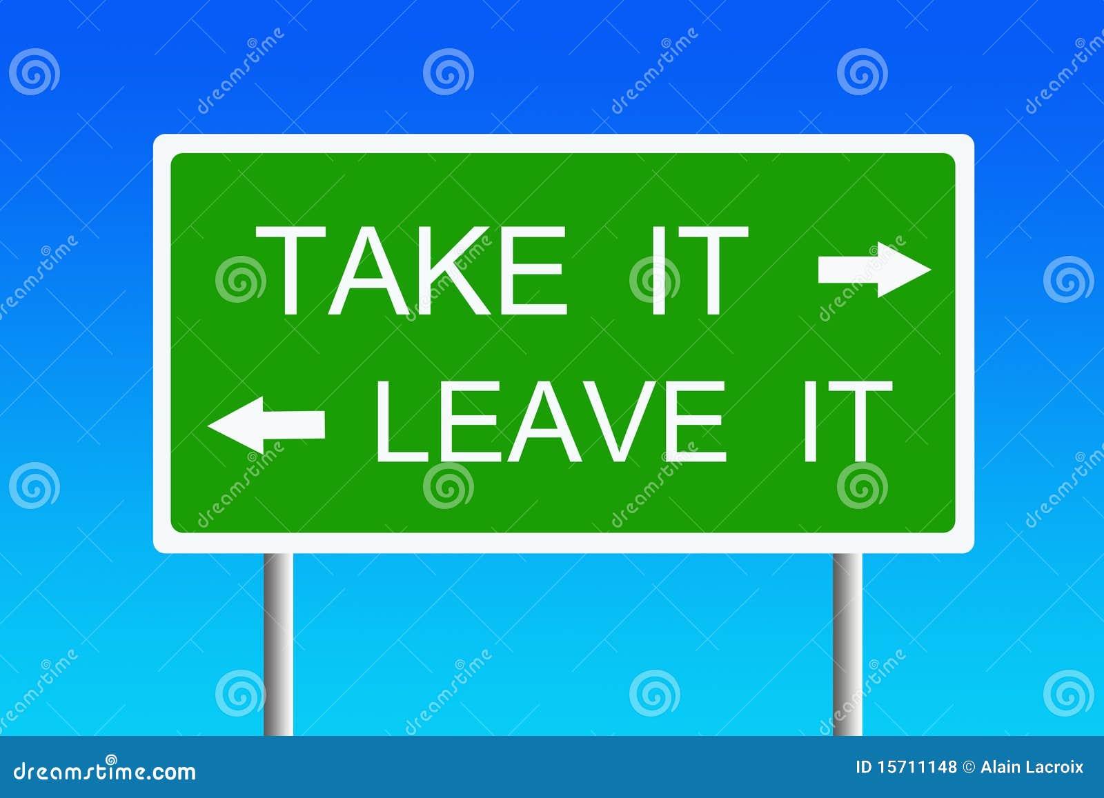 Tome-a ou deixe-a