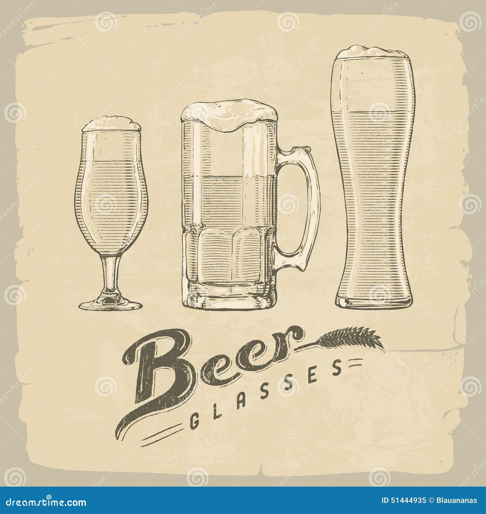 Tomma fulla exponeringsglas för öl en sekund