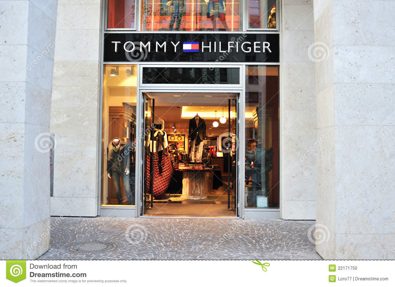 tommy hilfiger men clothing store editorial image image. Black Bedroom Furniture Sets. Home Design Ideas