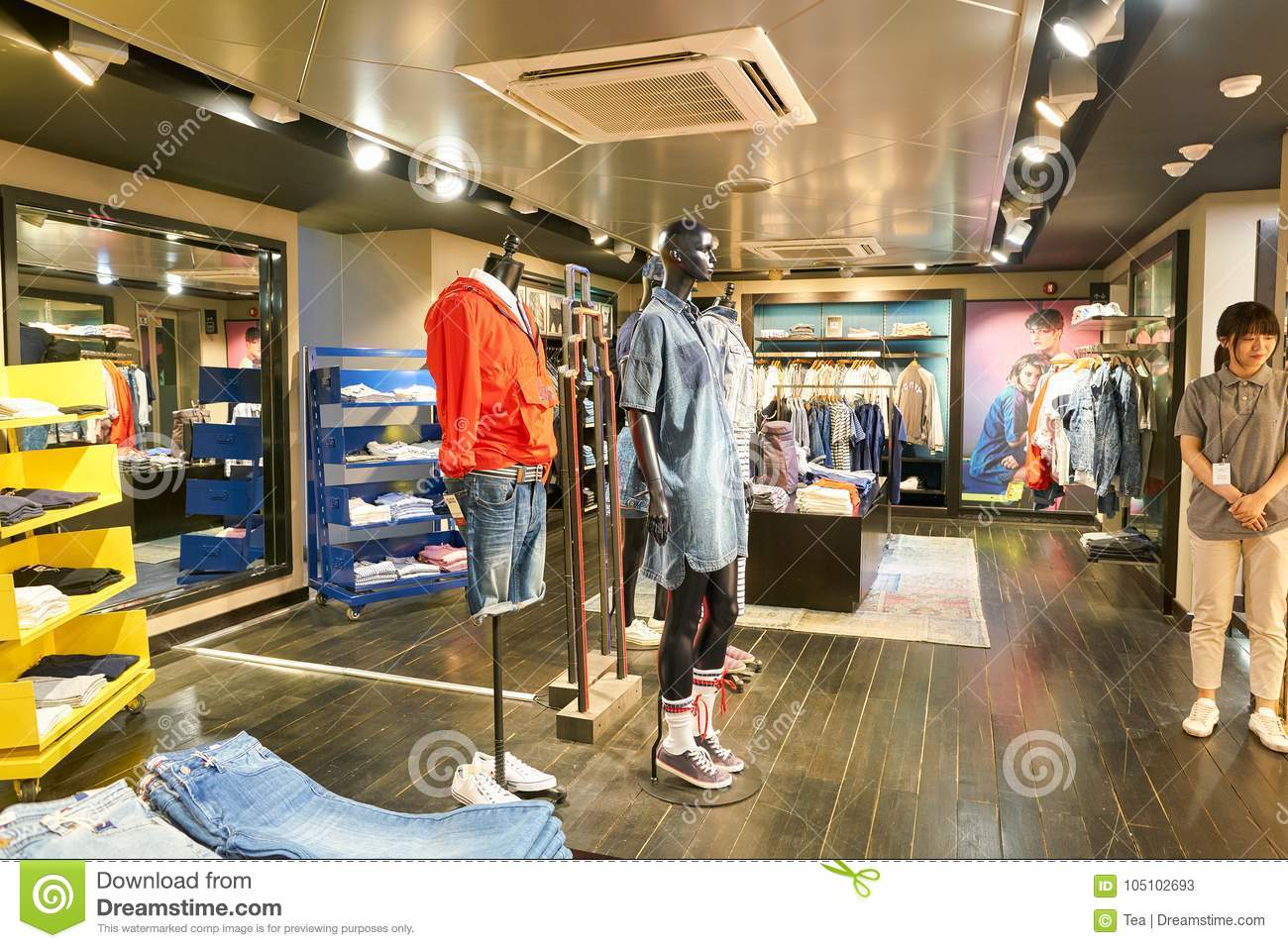 78673573 SEOUL, SOUTH KOREA - CIRCA MAY, 2017: inside a Tommy Hilfiger store in  Seoul.