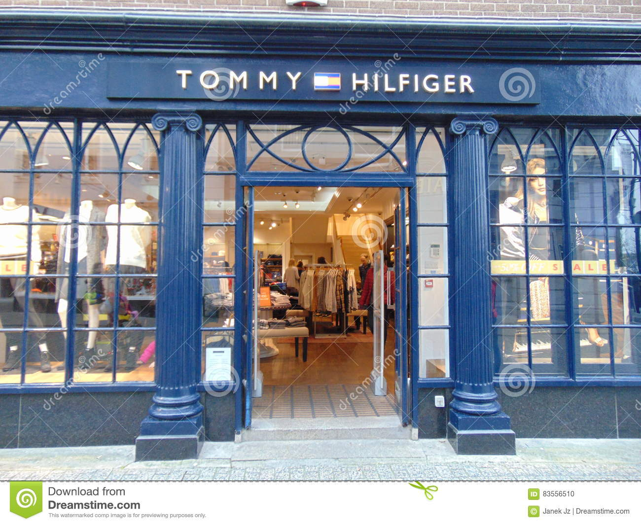 cc3203b537ada2 A Tommy Hilfiger store front located in Waterford city centre. . The unique  shop makes it easily recognisable on the main street.