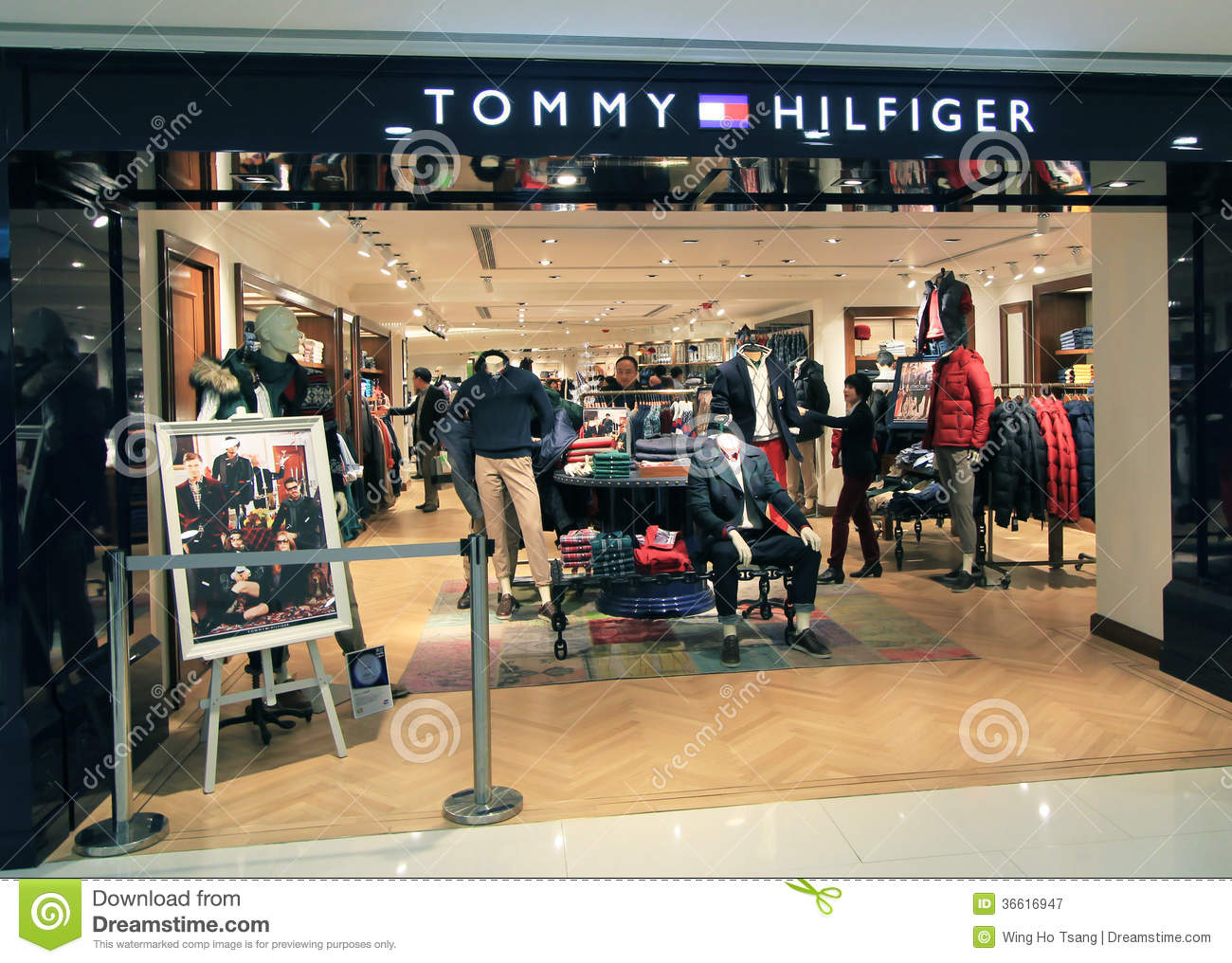 tommy hilfiger shop in hong kong editorial photography. Black Bedroom Furniture Sets. Home Design Ideas