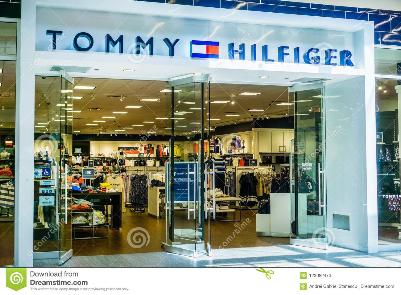 Tommy Hilfiger Store Entrance At The Great Mall Editorial Stock ... fbe4e369d04