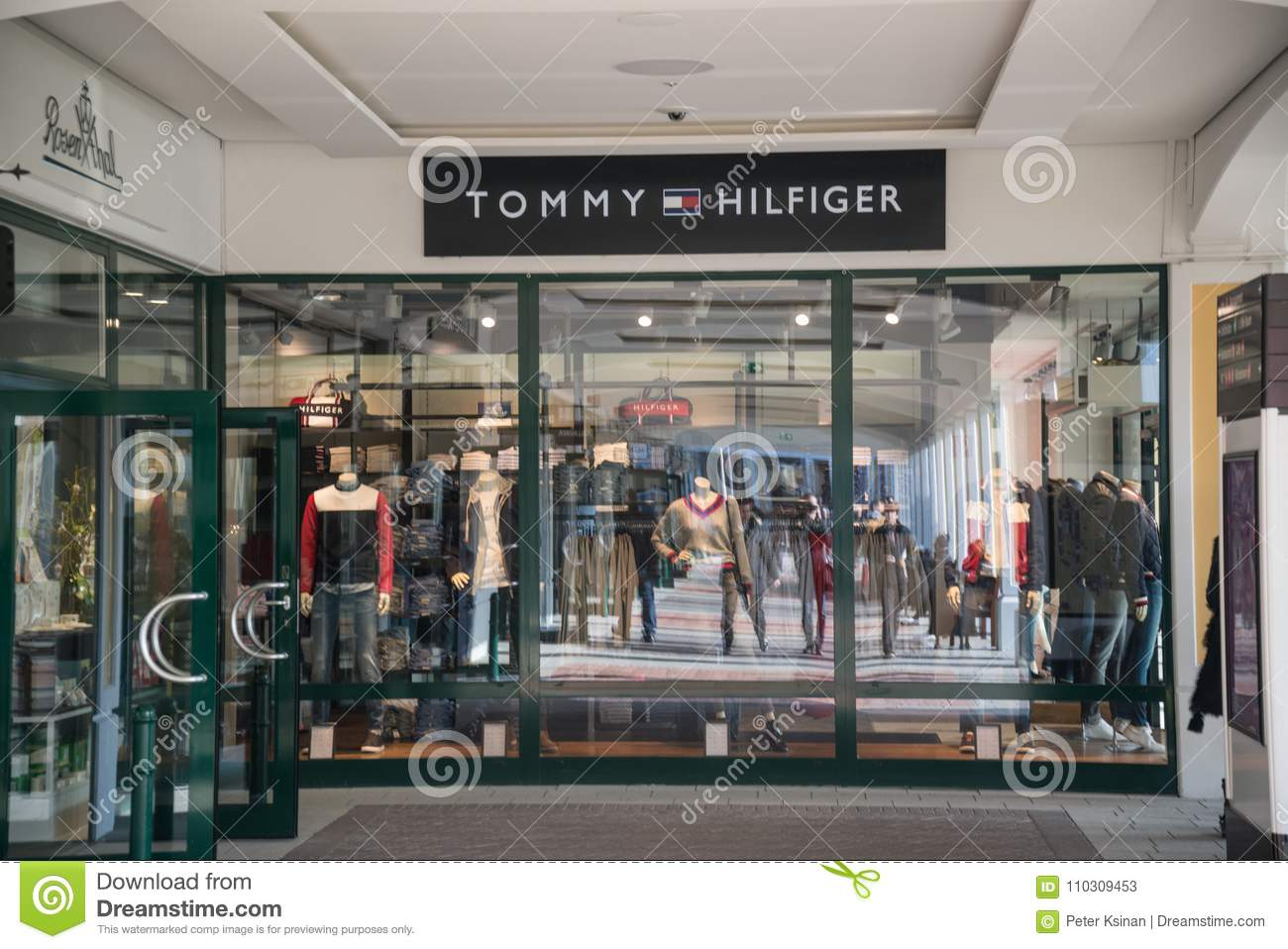 a8d810e2 Tommy Hilfiger Store In Parndorf, Austria. Editorial Stock Photo ...