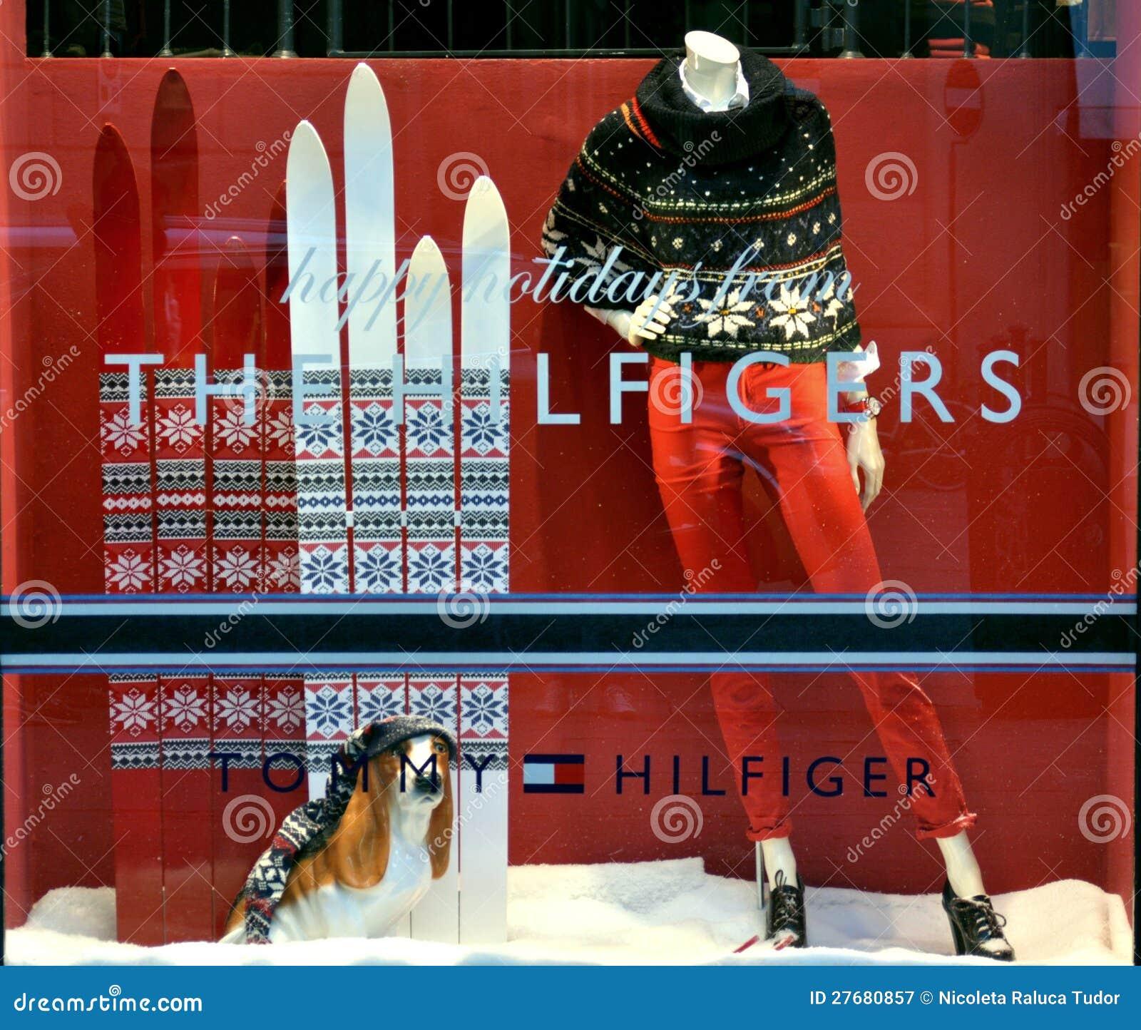eefc1156beda51 Tommy Hilfiger Winter Luxury Fashion Shop Editorial Photography ...