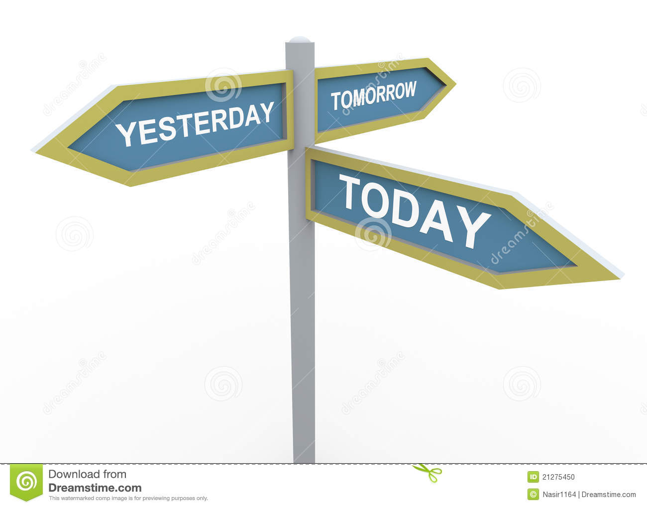 Tomorrow, Yesterday And Today Stock Photo - Image: 21275450