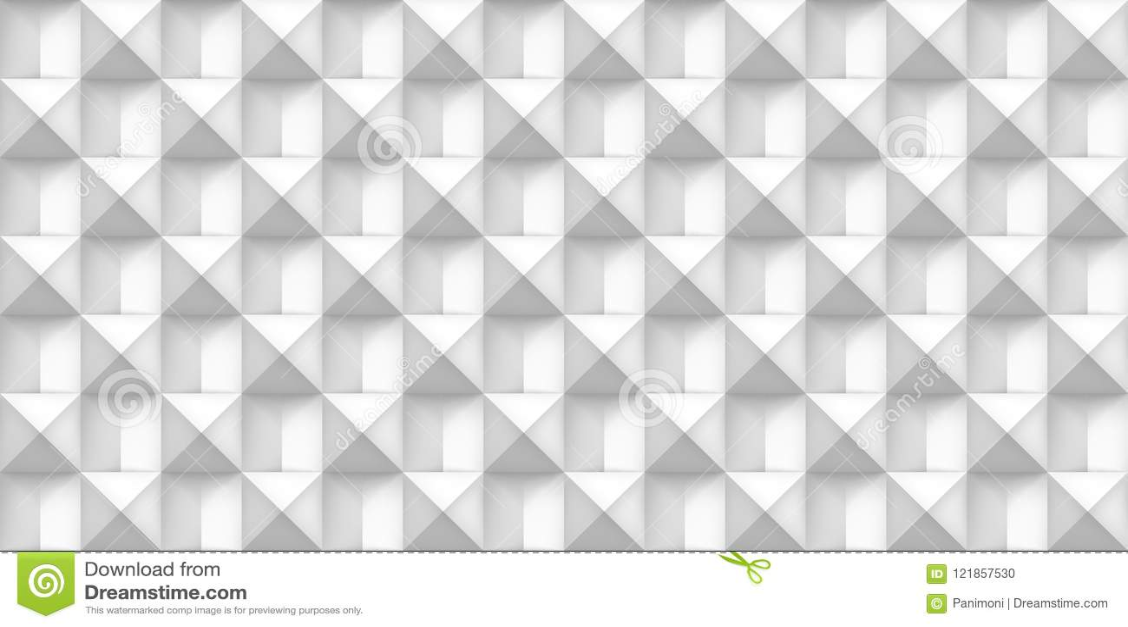 Tomowa biała realistyczna tekstura, sześciany, szarość 3d geometryczny bezszwowy wzór, projekta wektoru światła tło